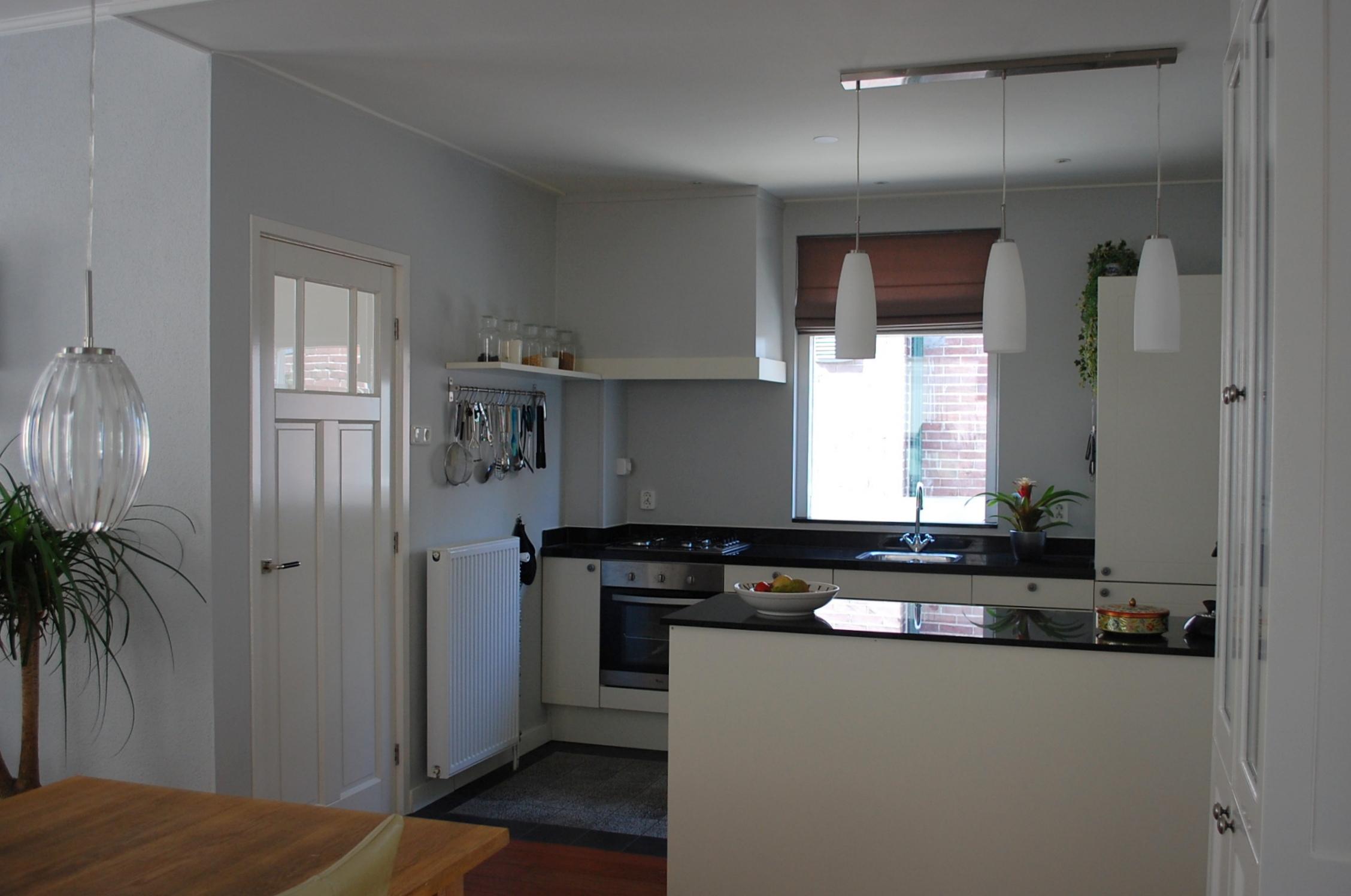 Gordijnen idee keuken - Lounge en keuken in dezelfde kamer ...