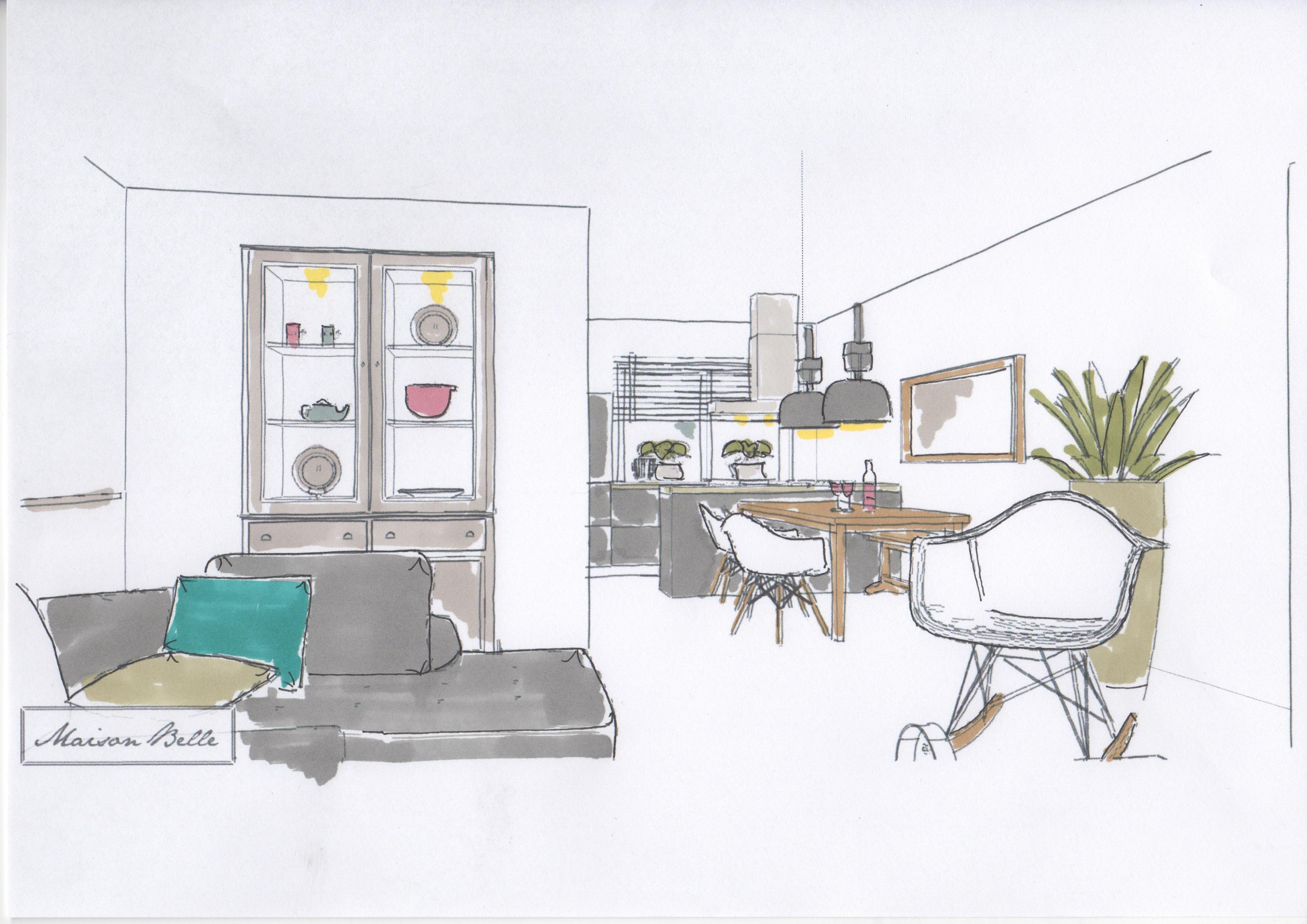 Interieurontwerp nieuwbouwwoning zuidbroek maison belle for Interieurontwerp