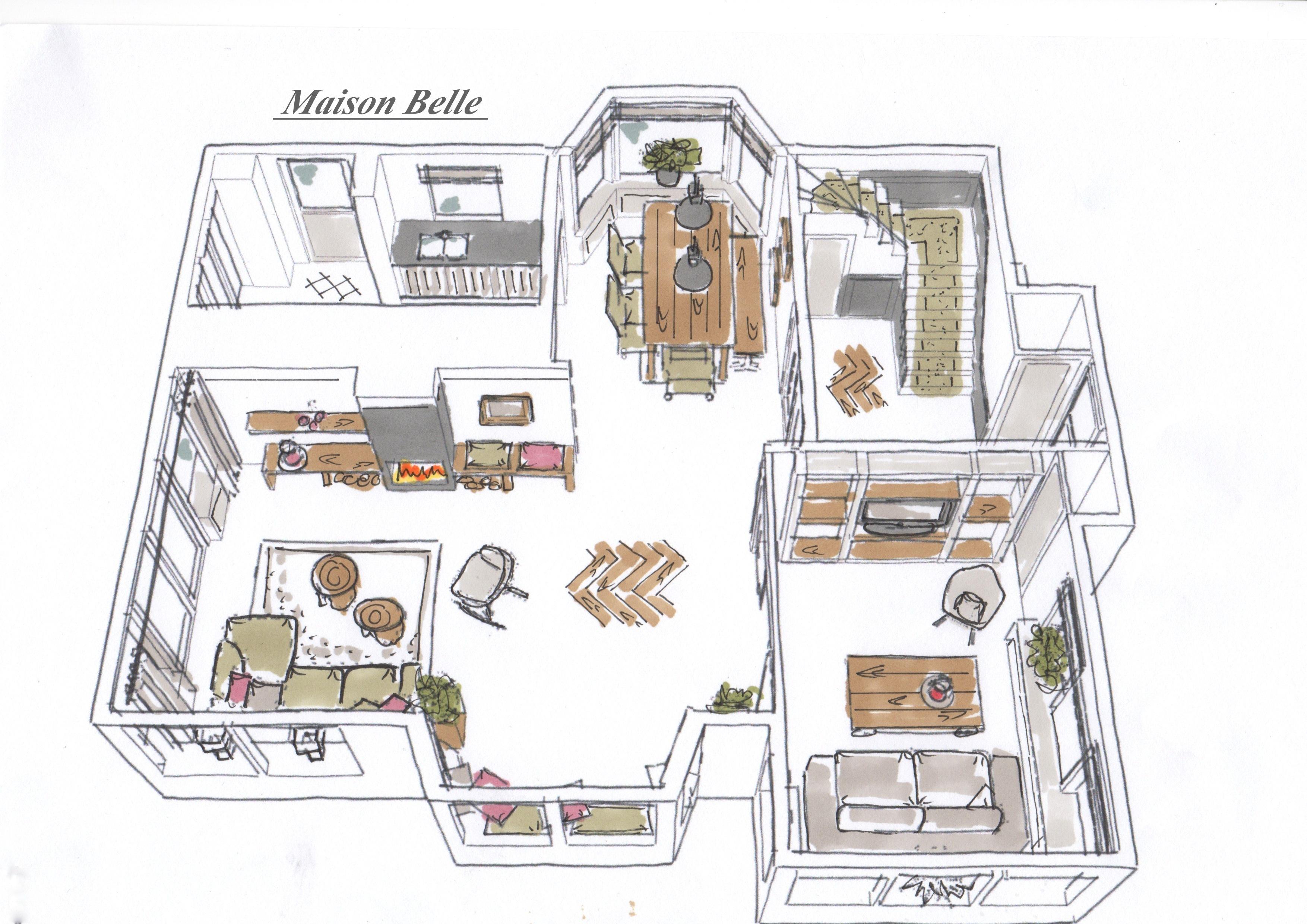 Interieurontwerp verbouwing en renovatie rietgedekte villa maison belle for Interieurontwerp