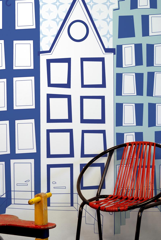 Behang voor de babykamer maison belle - Behang voor volwassen slaapkamer ...
