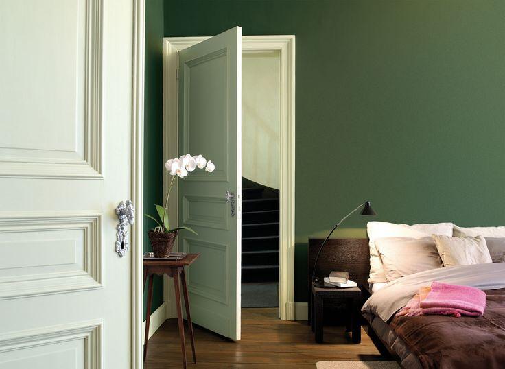 Olijf groen in huis maison belle - Kleur van de muur kamer verf ...