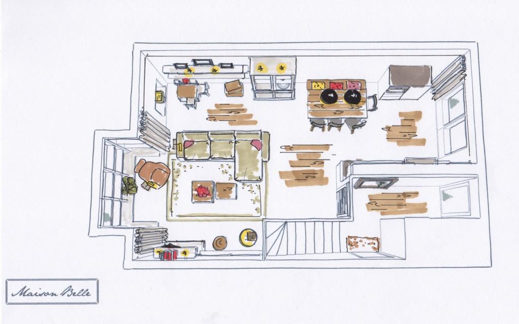 Interieurontwerp woonhuis 39 de terassen 39 maison belle for Interieurontwerp
