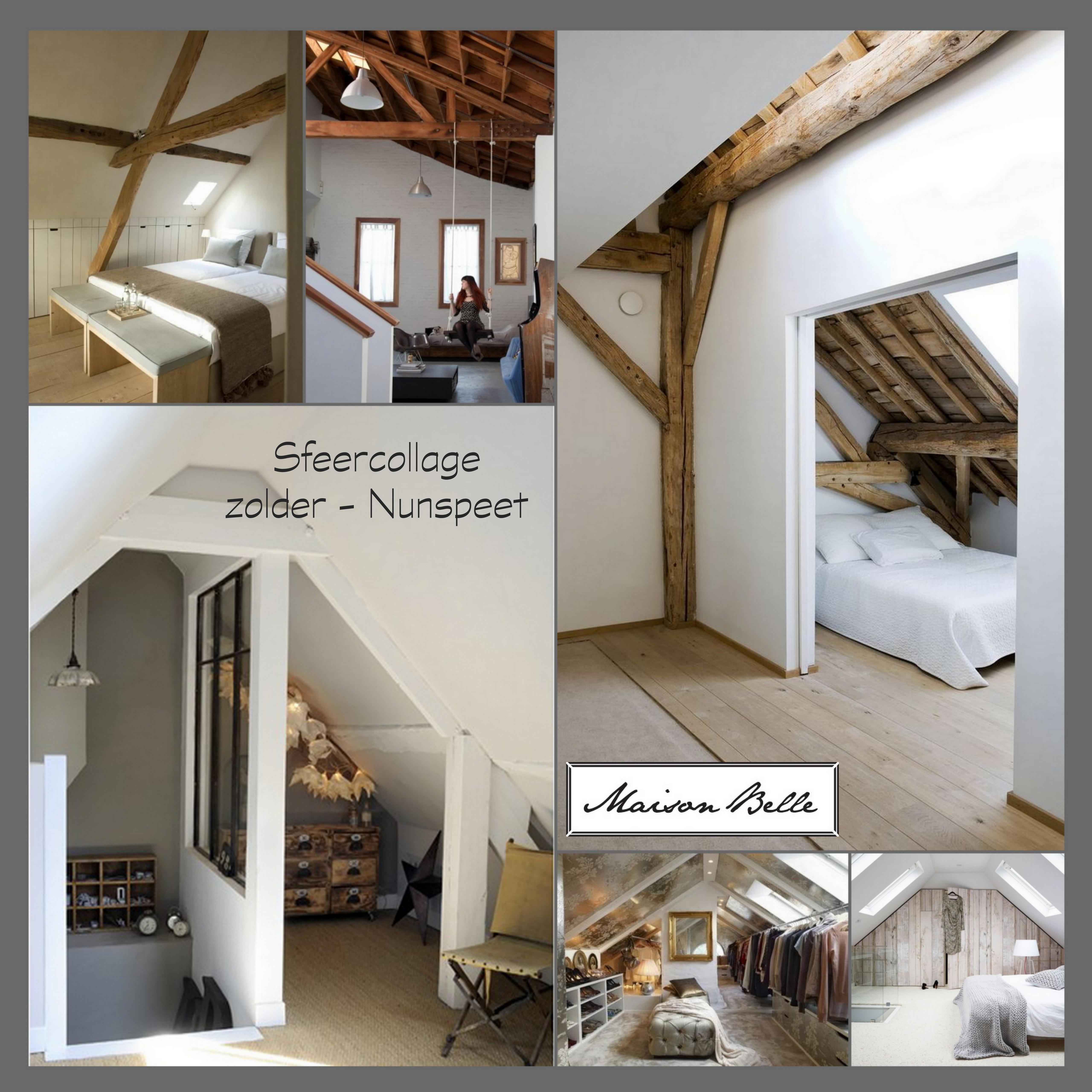 Ontwerp zolder voor 2 tieners maison belle - Slaapkamer met zichtbare balken ...
