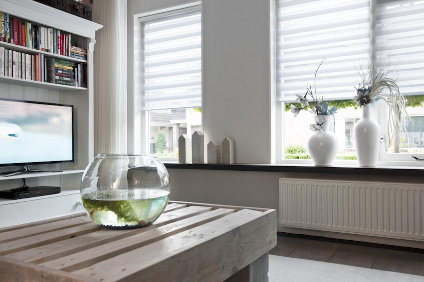 raamdecoratie woonkamer erker