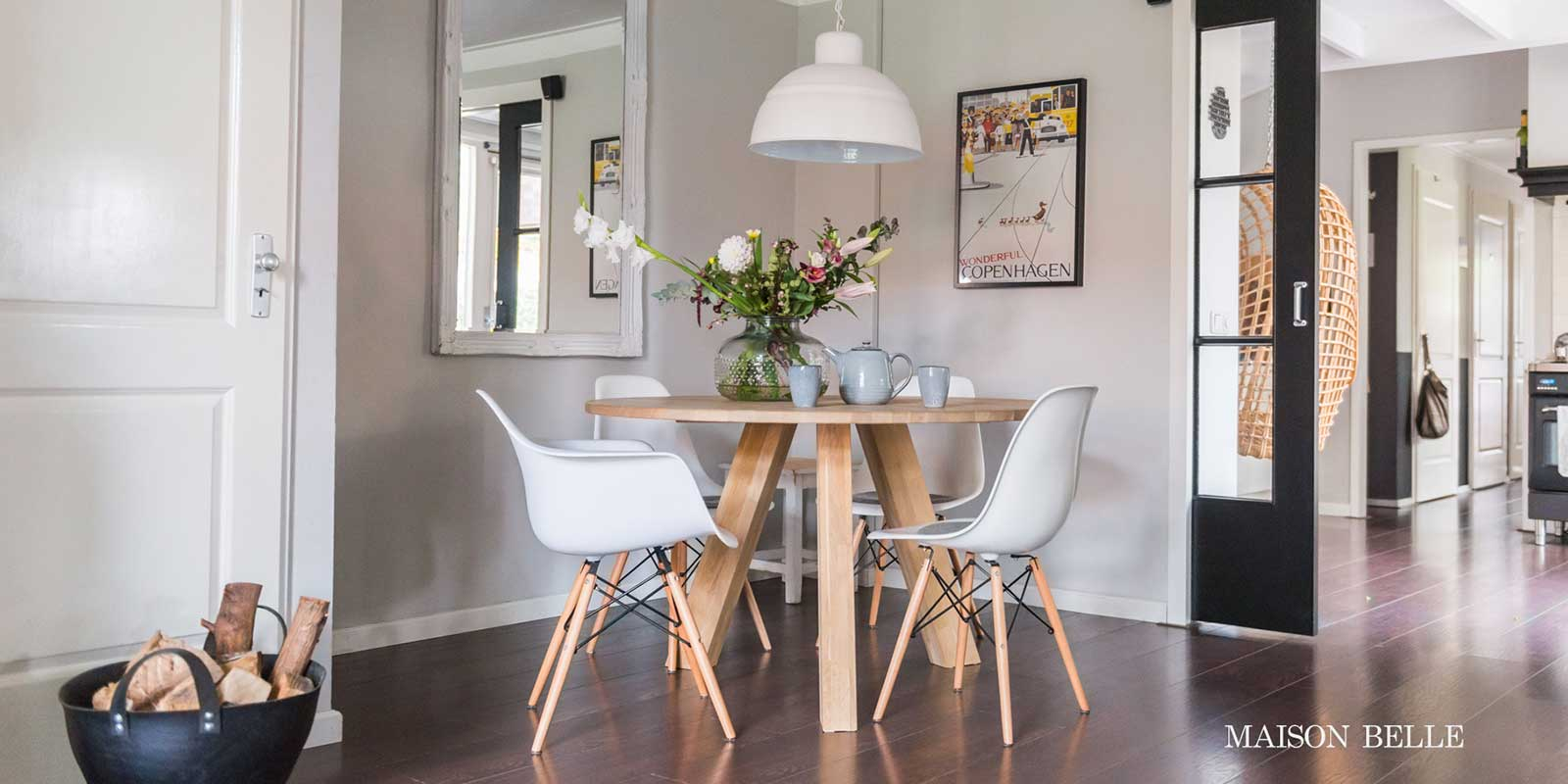 Interieur inspiratie ronde eettafel maison belle for Interieur styling