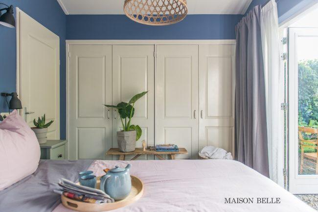 inbouwkast slaapkamer paneeldeuren