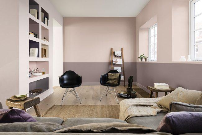 Interieur kleur van 2018 maison belle Taupe woonkamer