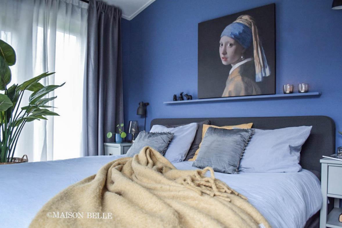 Slaapkamer blauw maison belle blog